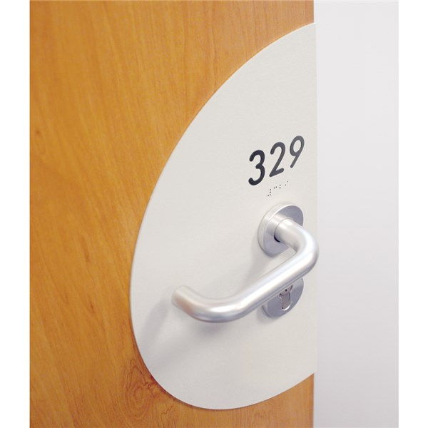 Plaque de protection de porte avec num ro de chambres direct signal tique - Plaque de proprete pour porte ...