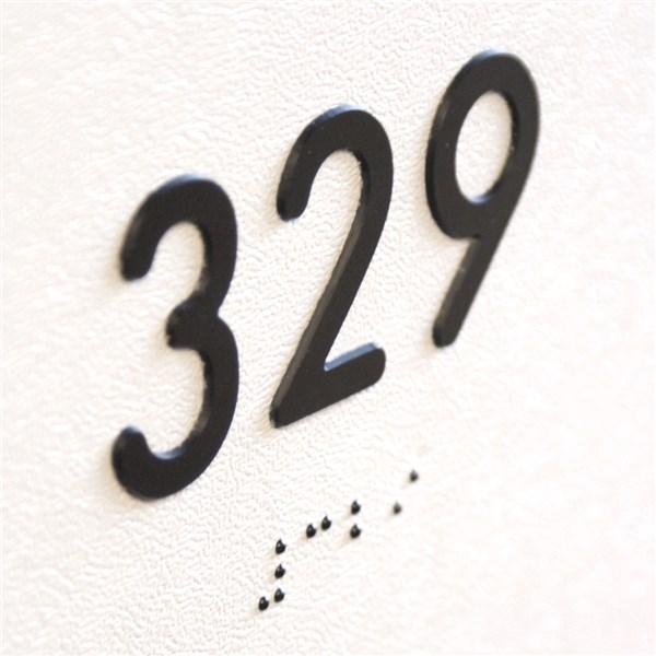 Plaque de protection de porte avec num ro de chambres for Numero de chambre