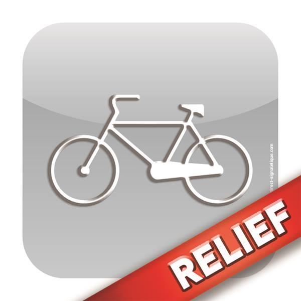 Plaque de garage v los relief icone direct signal tique for Affichage obligatoire garage