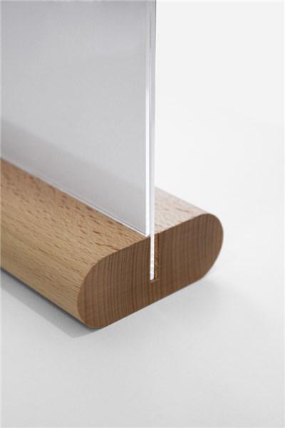 pr sentoir de comptoir avec support en bois direct signal tique. Black Bedroom Furniture Sets. Home Design Ideas