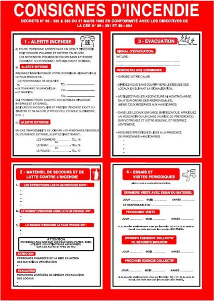 Consigne d incendie conforme l article - Affichage obligatoire cabinet dentaire ...