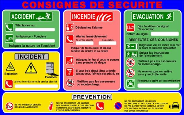 Consignes de s curit et de pr vention direct signal tique - Respecter les consignes de securite ...