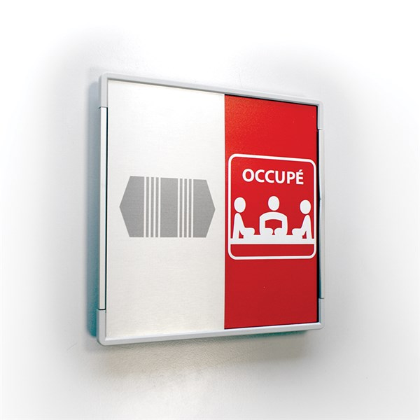 Plaque occup libre carr e direct signal tique for Enseigne salle de bain