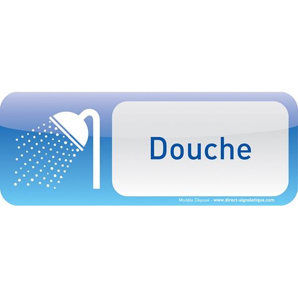 plaque de porte douche text icone direct signal tique. Black Bedroom Furniture Sets. Home Design Ideas