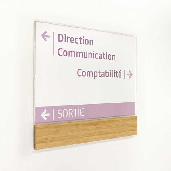 plaque de porte bois modulable gamme wood direct signal tique. Black Bedroom Furniture Sets. Home Design Ideas