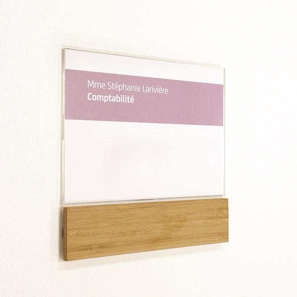 plaque de porte bois modulable gamme wood direct. Black Bedroom Furniture Sets. Home Design Ideas
