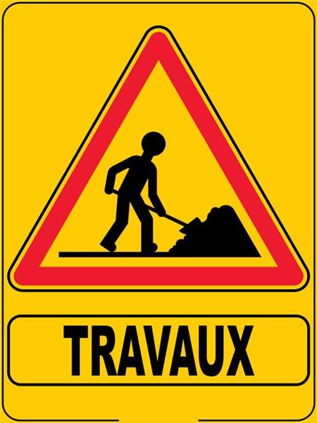 Panneau eco de signalisation de travaux direct signal tique - Panneau de signalisation personnalise ...