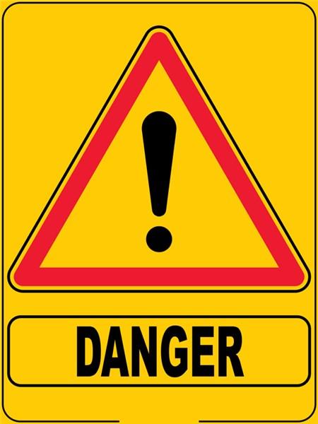 Panneau eco triangulaire danger direct signal tique - Panneau signaletique personnalise ...