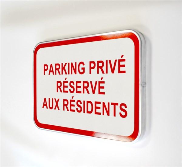 panneau parking priv r serv aux r sidents direct signal tique. Black Bedroom Furniture Sets. Home Design Ideas