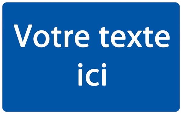 panneau de parking personnalis fond bleu texte blanc h 250 x l 400 mm direct signal tique. Black Bedroom Furniture Sets. Home Design Ideas