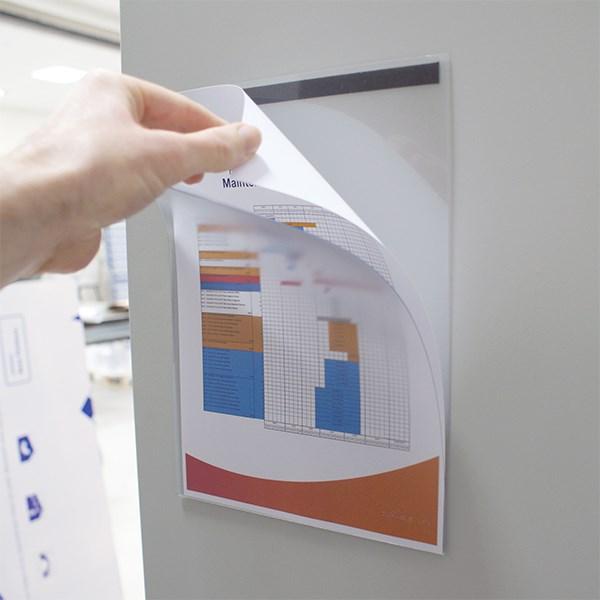 pochette d affichage magn tique lot de 2 direct signal tique. Black Bedroom Furniture Sets. Home Design Ideas