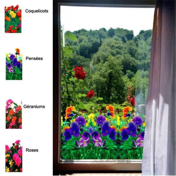 adh sif d coratif pour vitre style fleurs direct signal tique. Black Bedroom Furniture Sets. Home Design Ideas