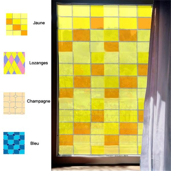 adh sif d coratif pour vitre style vitrail direct signal tique. Black Bedroom Furniture Sets. Home Design Ideas
