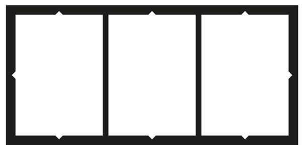 Gabarit de pose pour chiffre en relief coller sur une for Coller un miroir sur une porte