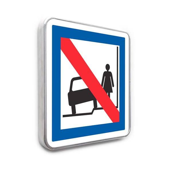 panneau stationnement sur trottoir interdit direct signal tique