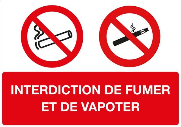 panneau interdiction de fumer et de vapoter direct. Black Bedroom Furniture Sets. Home Design Ideas