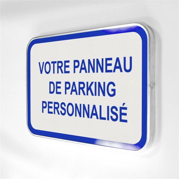 Panneau routier de parking personnalis h 350 x l 500 mm classe 1 direc - Panneau signaletique personnalise ...