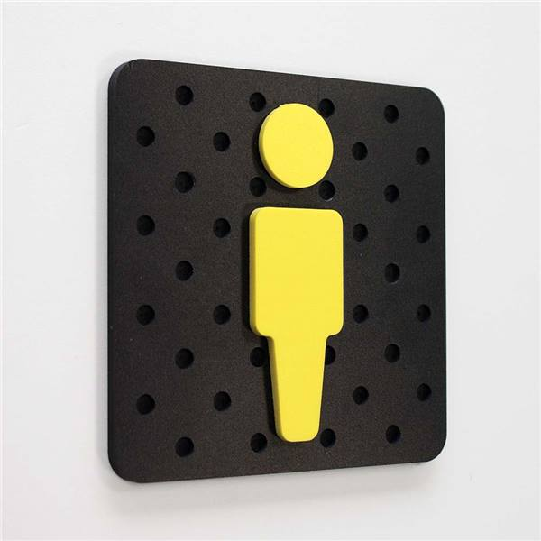 plaque de porte wc homme plug play direct signal tique. Black Bedroom Furniture Sets. Home Design Ideas
