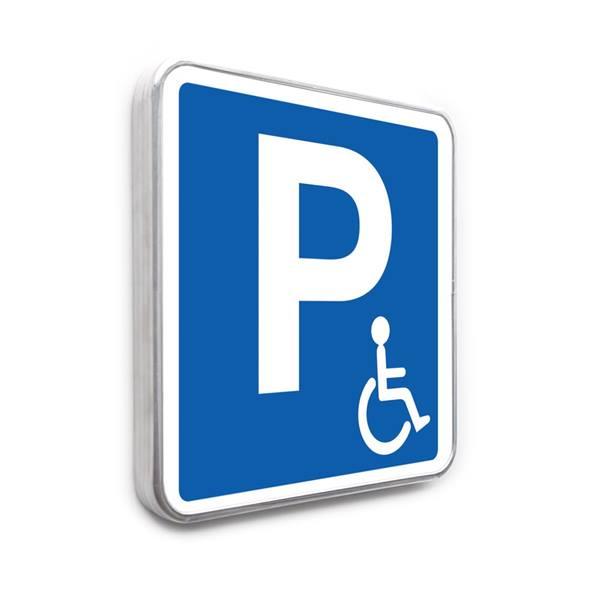 panneau parking handicap direct signal tique. Black Bedroom Furniture Sets. Home Design Ideas