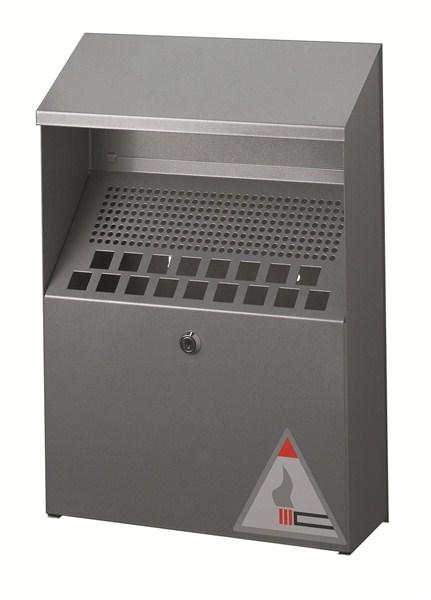 Cendrier mural pour ext rieur 4 litres direct signal tique for Grande poubelle exterieur