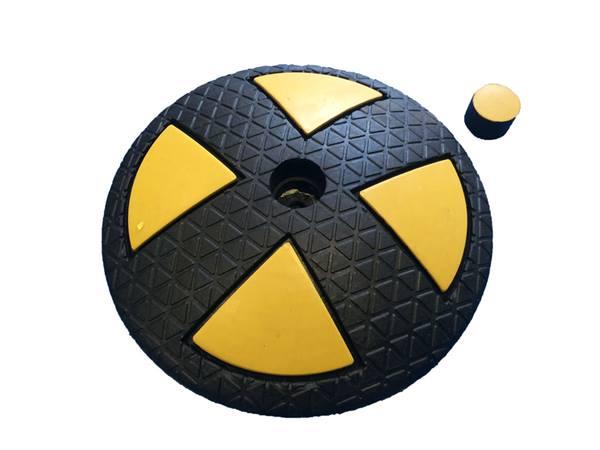 ralentisseur circulaire jaune et noir 200xh40 mm direct. Black Bedroom Furniture Sets. Home Design Ideas