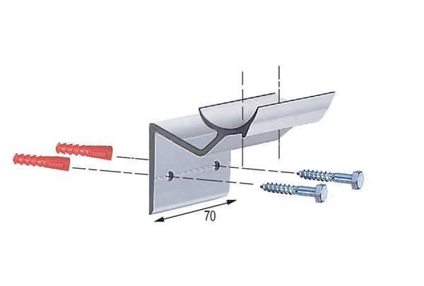 Main courante en aluminium anodis pour ext rieur direct for Main courante escalier exterieur aluminium