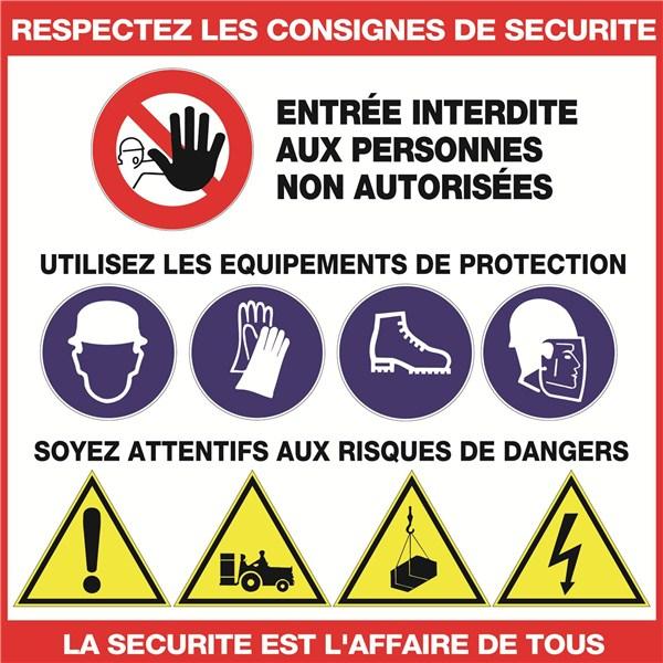 Panneau consignes de s curit mod le c direct signal tique - Respecter les consignes de securite ...