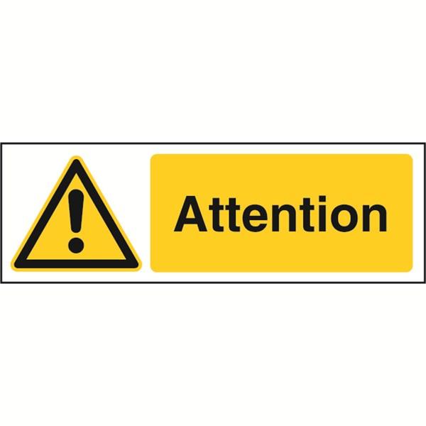 Panneau attention stf 2502 direct signal tique - Panneau signaletique personnalise ...