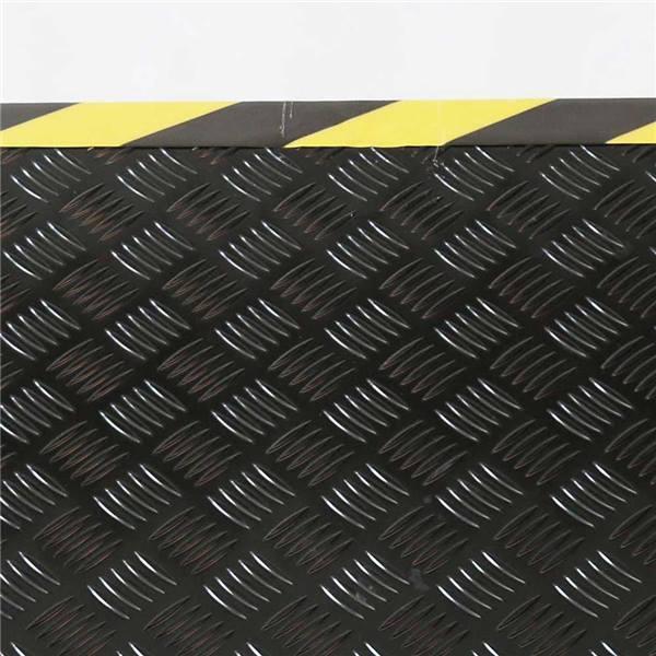 Rampe De Seuil En Aluminium Larmé Antidérapant Laqué Noir