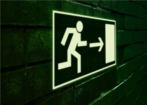 Panneau fen tre de secours avec chelle photoluminescent for Panneau de fenetre