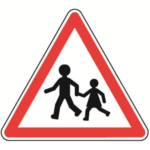 Panneau de danger Enfants - A13a