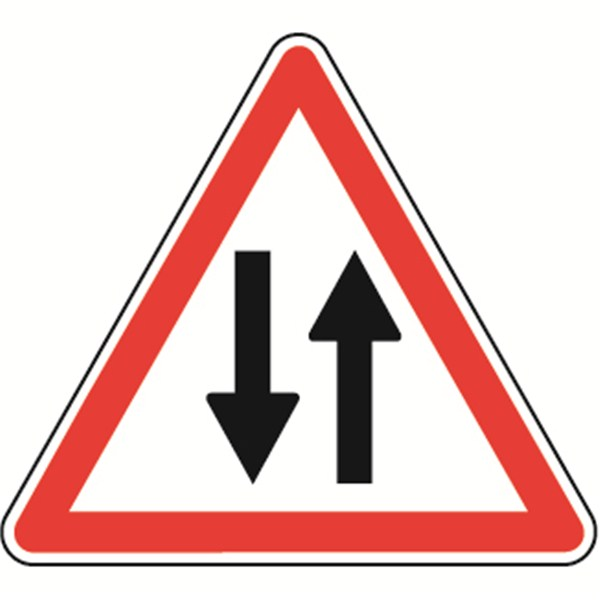 panneau de danger circulation dans les 2 sens a18 direct signal tique. Black Bedroom Furniture Sets. Home Design Ideas