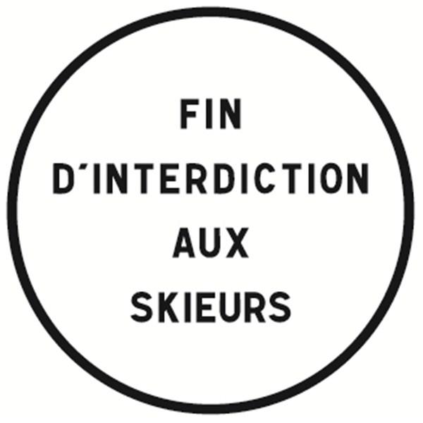Panneau fin d interdiction personnalis b39 direct signal tique - Panneau signaletique personnalise ...