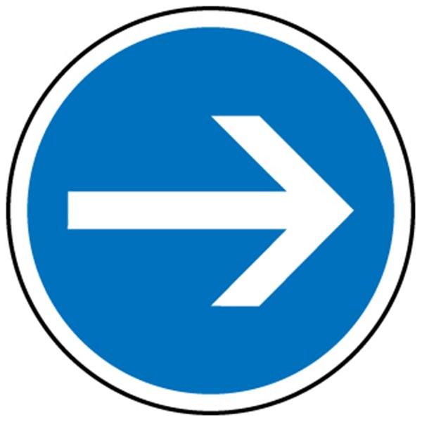 Panneau direction obligatoire vers la droite b21 1 direct signal tique - Panneau signaletique personnalise ...