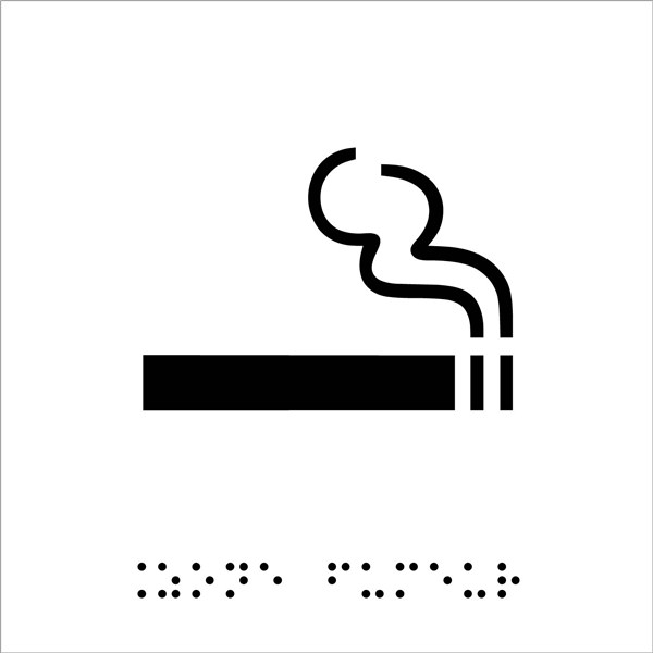 plaque de porte picto relief zone fumeur direct. Black Bedroom Furniture Sets. Home Design Ideas