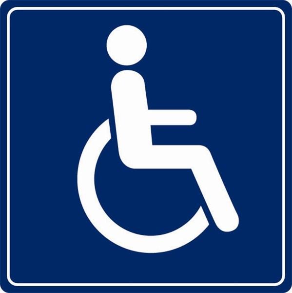 Plaque plexi picto Toilettes handicapés  Direct Signalétique