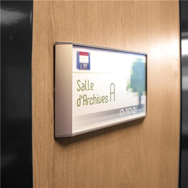 Plaque de porte gamme lunaire mod le plat direct signal tique - Plaque de porte design ...