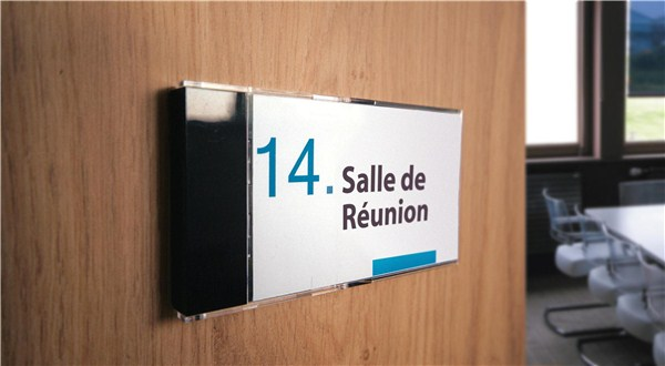 Plaque porte nom lot de 5 direct signal tique - Plaque de bureau personnalise ...
