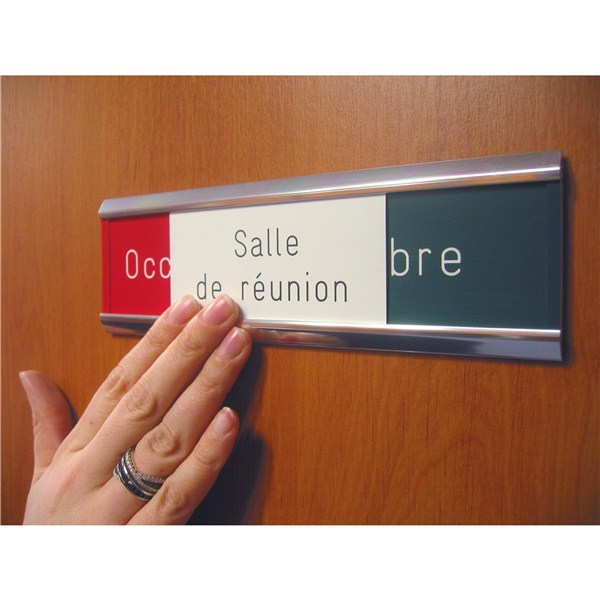 plaque de porte occup libre grav e salle de r union direct signal tique. Black Bedroom Furniture Sets. Home Design Ideas