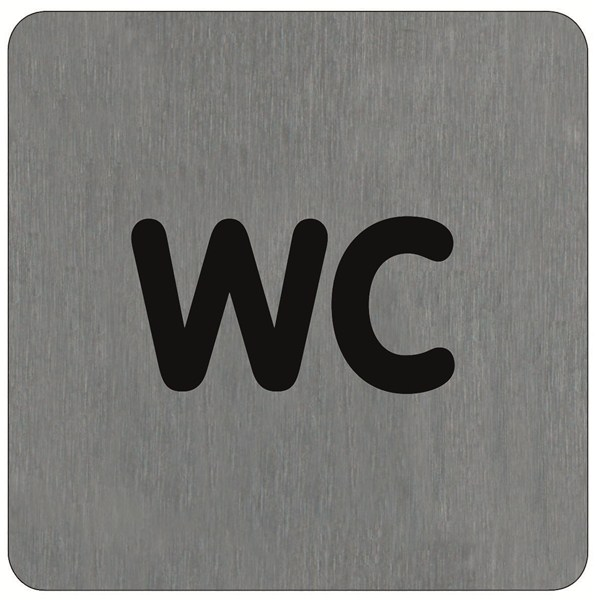 Plaque de porte alu bross wc direct signal tique - Plaque de porte wc design ...