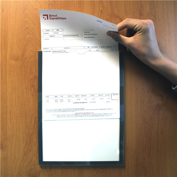 Porte documents muraux standard direct signal tique for Porte document mural