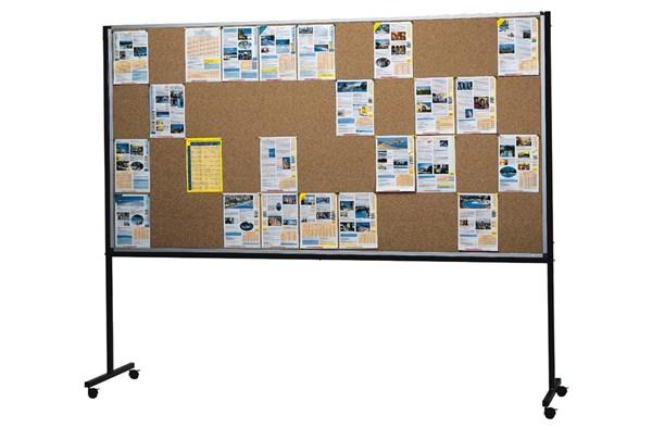 panneau d affichage en li ge sur roulettes grand format direct signal tique. Black Bedroom Furniture Sets. Home Design Ideas