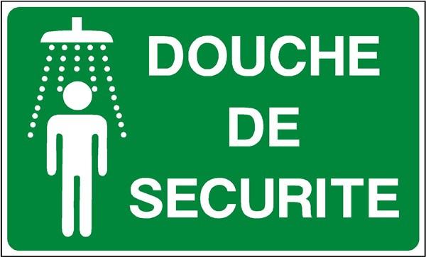 Douche de s curit picto texte stf 2006 direct signal tique - Reglementation douche de securite ...