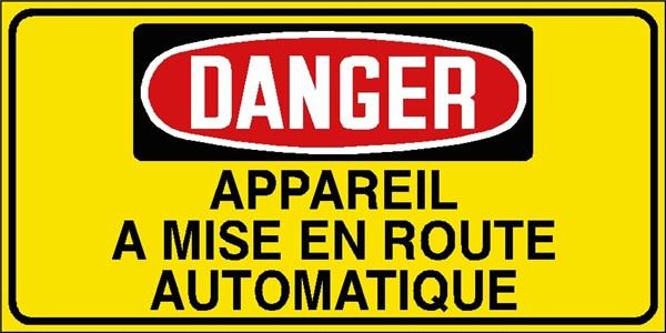 Danger appareil a mise en route automatique stf 3029s - Mise en route piscine ...