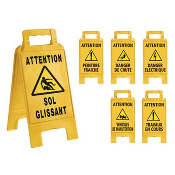 Chevalet de signalisation jaune direct signal tique - Attention peinture fraiche ...