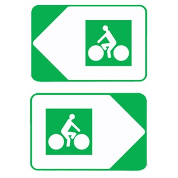 Panneau Directionnel De Position Pour Pistes Cyclables Dv21c H 200 X L 300 Mm Direct Signaletique
