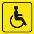 Picto gravé Toilettes handicapés - 100 x 100 mm - Gamme Couleur