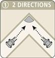 Miroir multi-usage cadre blanc - contrôle 2 directions