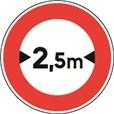 Panneau Travaux Limitation de Largeur sur Pied - BK11