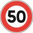 Panneau Temporaire Limitation de vitesse sur Pied solidaire - BK14